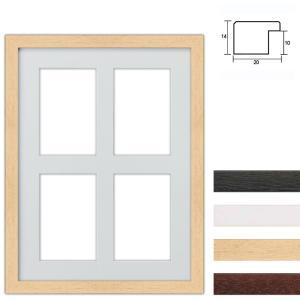 4 Foto's Galerij lijst van hout 30x40 cm