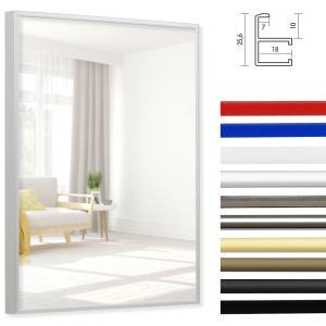 Spiegellijst van aluminium Quadro