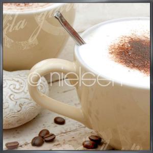 """Beeld met lijst """"Coffee I"""" met lijst van aluminium Alpha"""