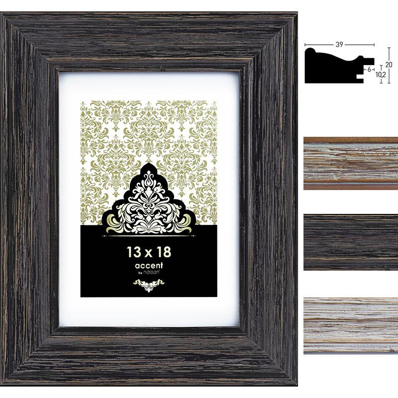 Lijst van hout Vintage 13x18 cm | wit | normaal glas