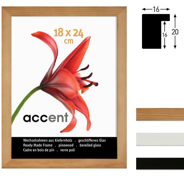 Lijst van hout Wood 18x24 cm | wit | normaal glas