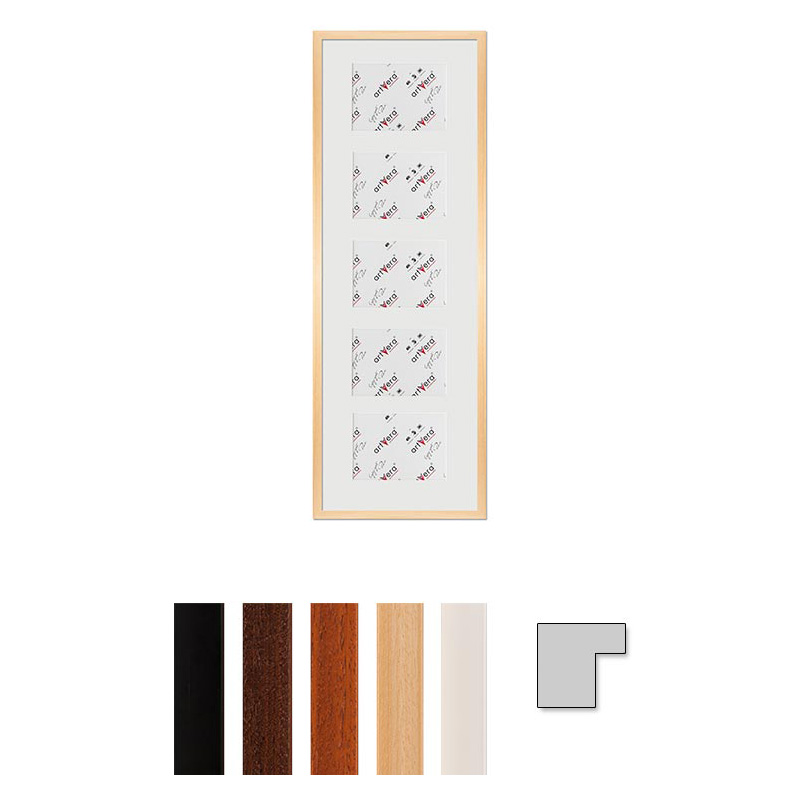 """Galerij lijst voor 5 """"Uppsala"""", 30x90 cm - 13x18 cm"""