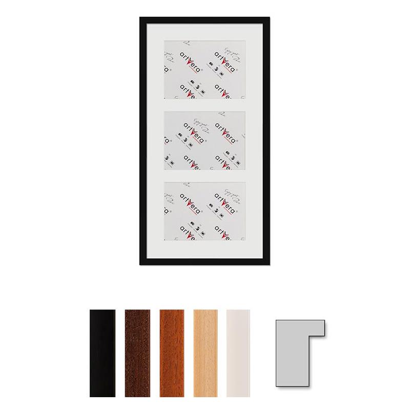 """Galerij lijst voor 3 """"Lund"""", 30x60 cm - 15x20 cm"""