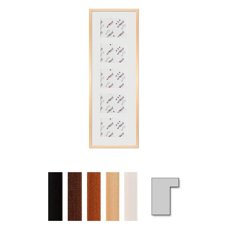 """Galerij lijst voor 5 """"Lund"""", 30x90 cm - 13x18 cm"""
