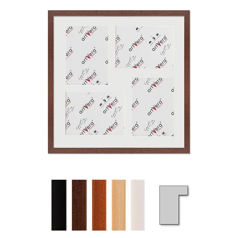 """Galerij lijst voor 4 """"Lund"""", 40x40 cm - 13x18 cm"""