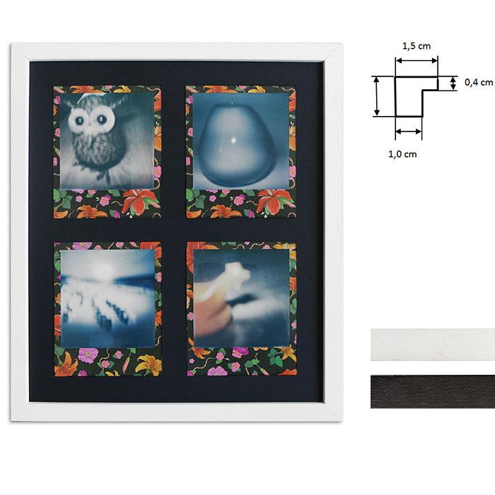 Lijst voor 4 directbeelden - Typ Polaroid 600