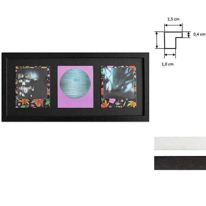 Lijst voor 3 directbeelden - Typ Polaroid 600