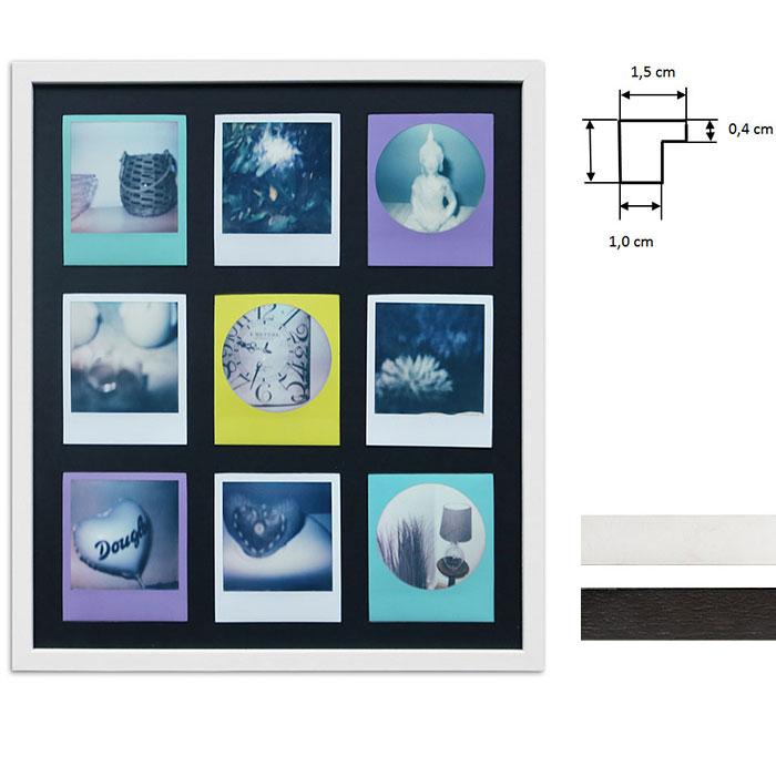 Lijst voor 9 directbeelden - Typ Polaroid 600
