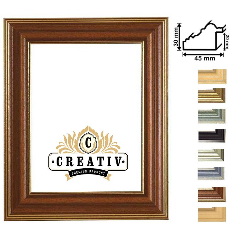 Lijst van hout Piemonte 30x40 cm | zwart | antireflecterend glas