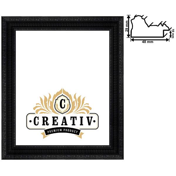 Baroklijst Ancona 40x50 cm | zwart | antireflecterend acrylglas UV 100