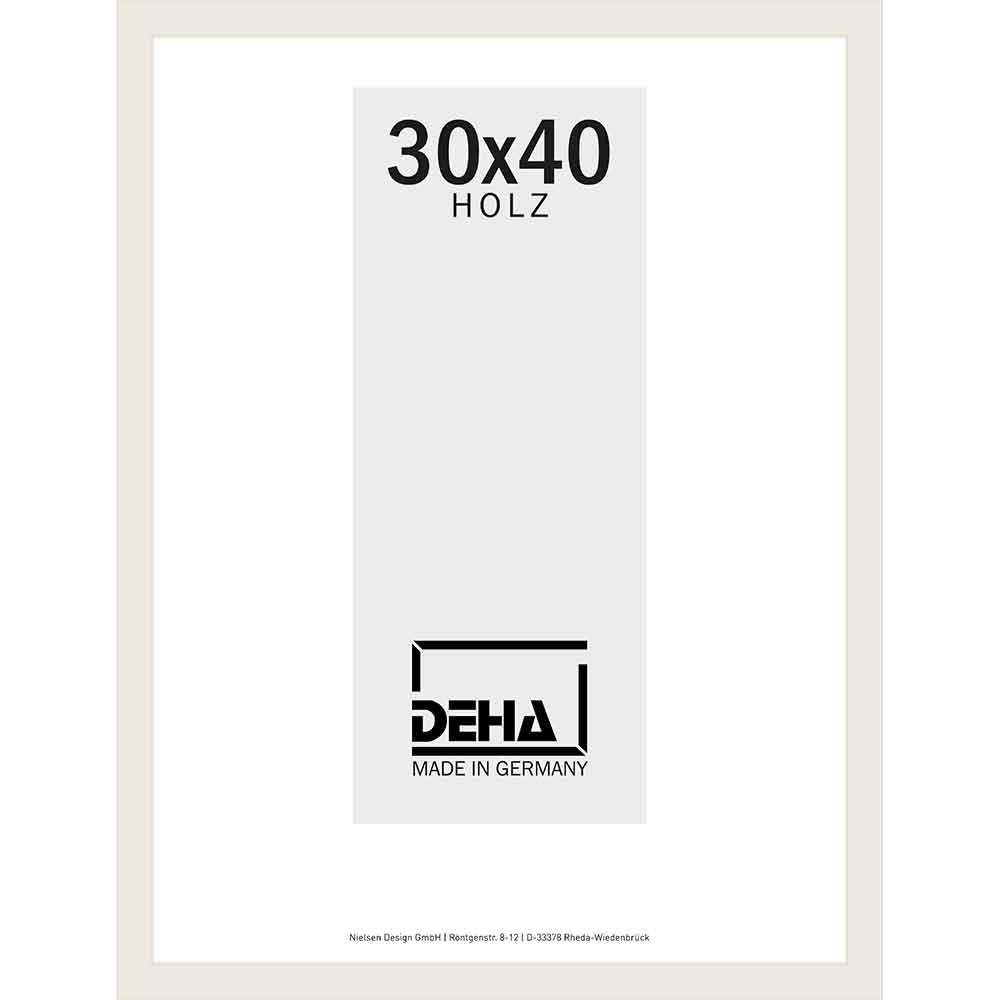 Afstandlijst van hout Bunda 30x40 cm | linde, wit dekkend | normaal glas
