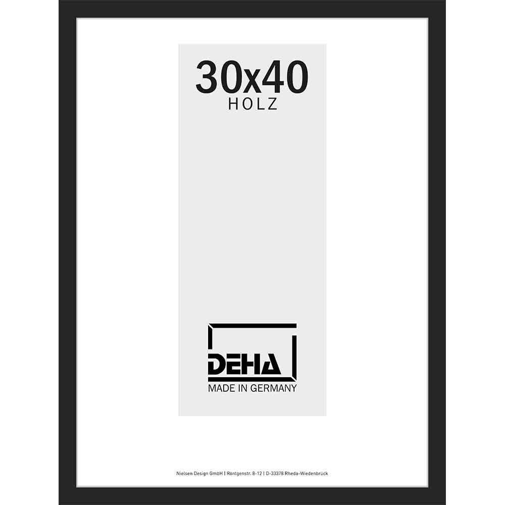 Afstandlijst van hout Bunda op maat linde, zwart dekkend   normaal glas