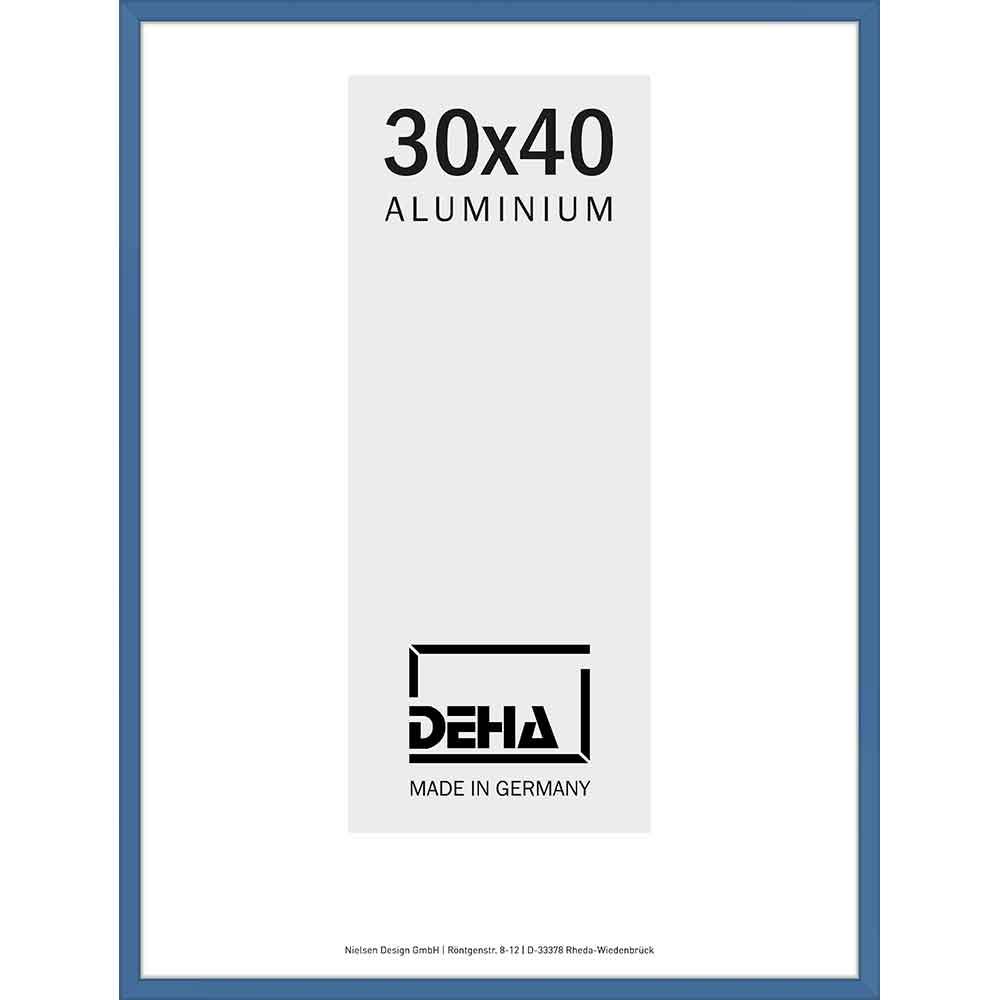 Lijst van aluminium Superba 70x90 cm   gentiaanblauw RAL 5010   plexiglas