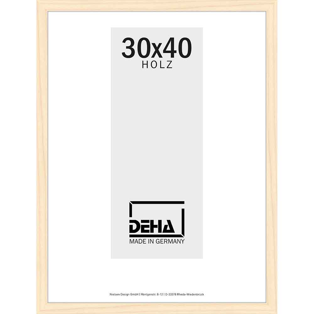 Lijst van hout Hamal 70x90 cm | dennenhout, natuur, gelazuurd | plexiglas