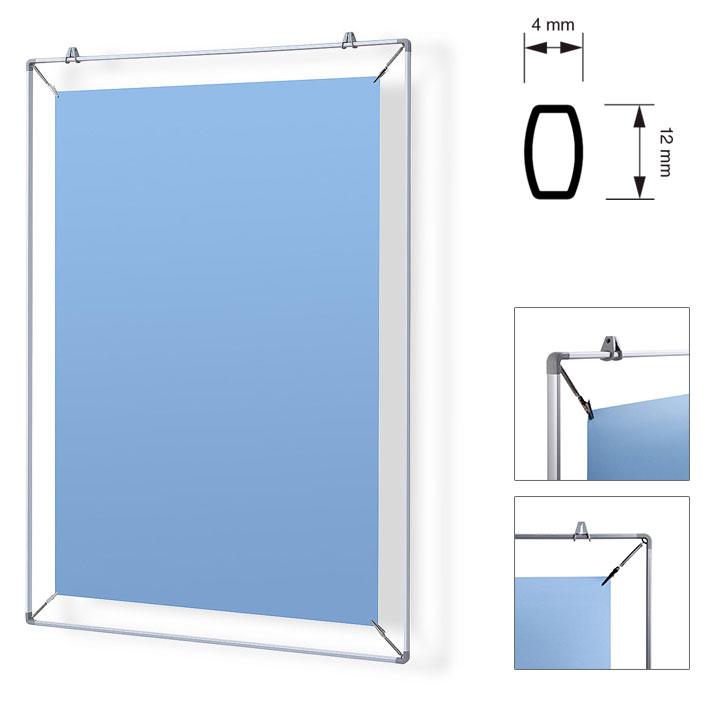 Spanlijst voor affiche A1 cm (59,4x84,1 cm) | zilver