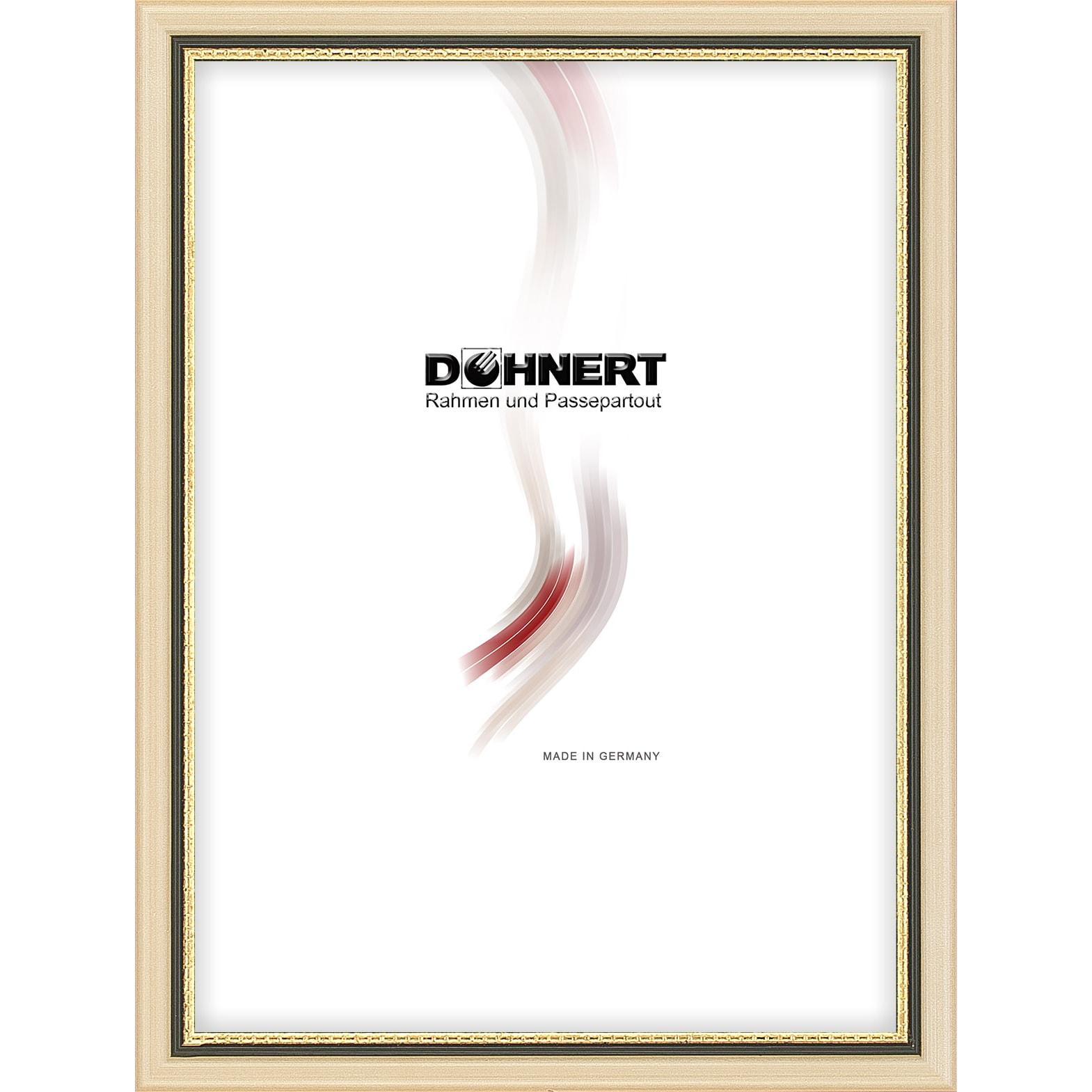 Grote Lijst Met Passepartout.Doehnert Lijst Van Hout Amersham 30x45 Cm Altweiss Mit Grau Gold