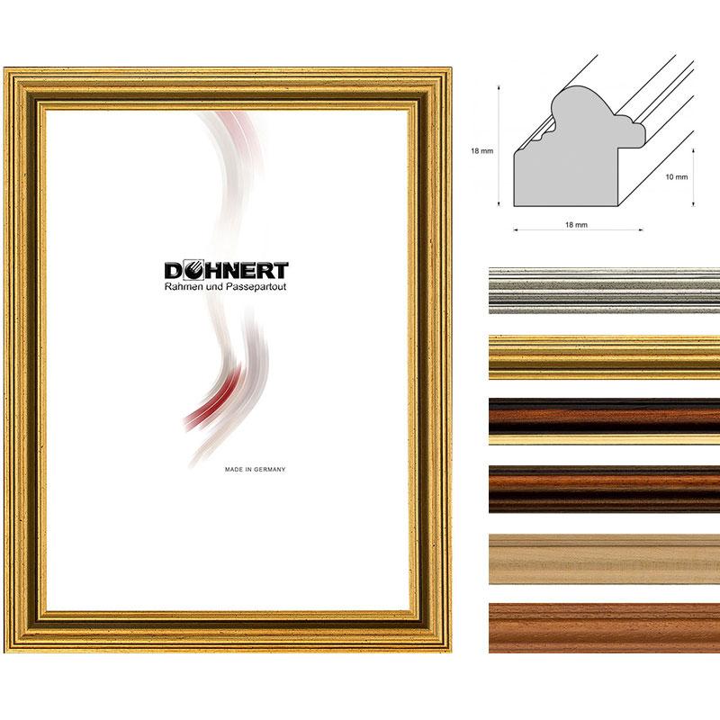 Lijst van hout Latimer 30x40 cm | bruin | normaal glas