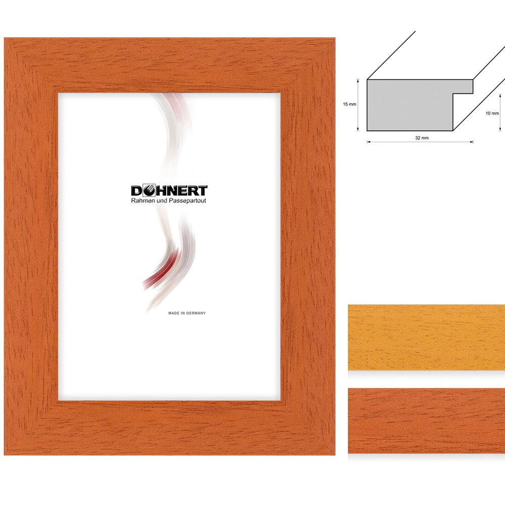 Lijst van hout Kew 21x29,7 cm (A4) | bruin | normaal glas