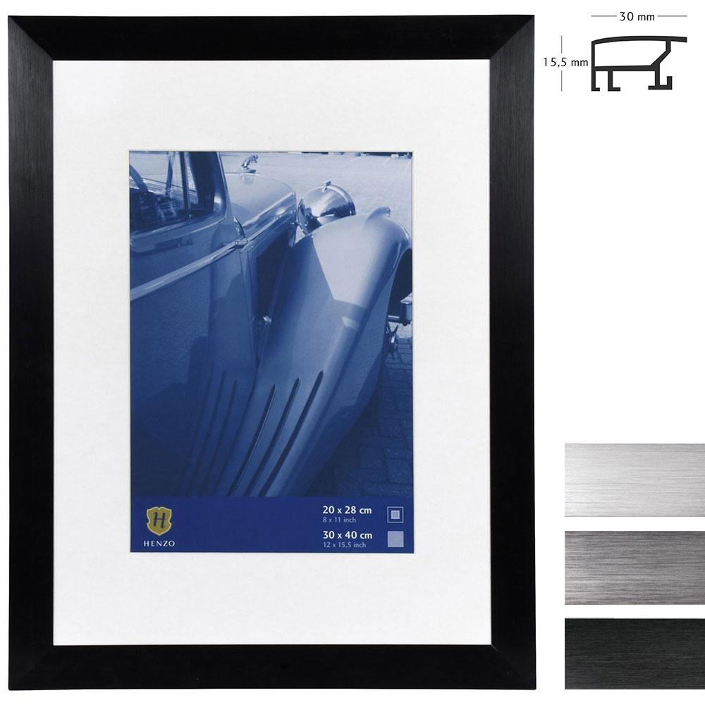 Lijst van aluminium Luzern met passe-partout