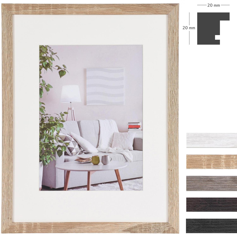 henzo lijst van hout modern mdf met passe partout 10x15 cm 7x10 cm bruin donker normaalglas. Black Bedroom Furniture Sets. Home Design Ideas