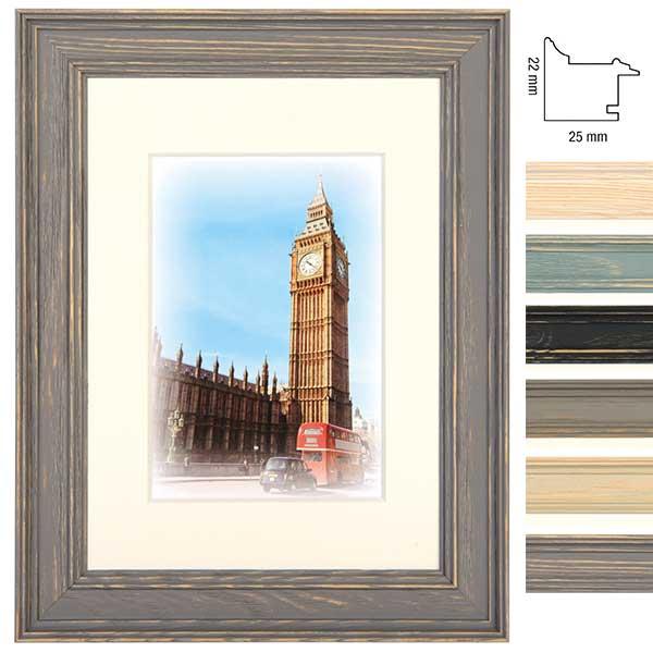 Lijst van hout Capital London met passe-partout