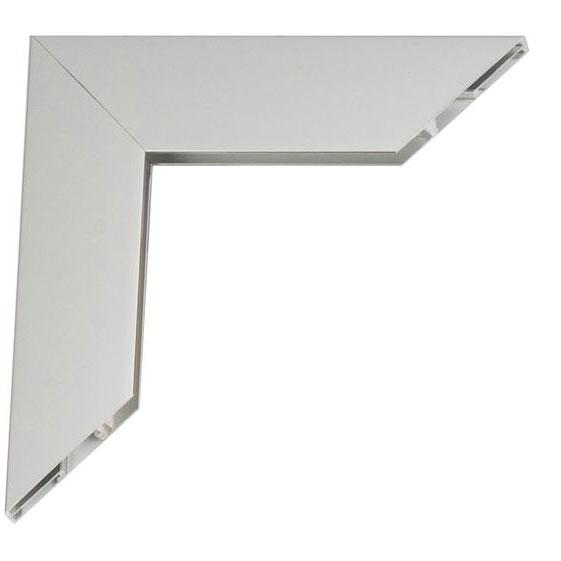 Mega lijsten van aluminium op maat zilver, glanzend   plexiglas