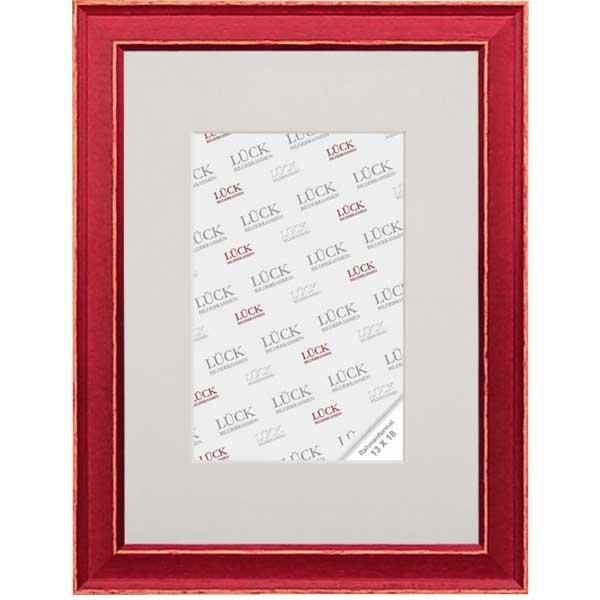 Lijst van hout Rauenberg 7x10 cm | rood | normaalglas