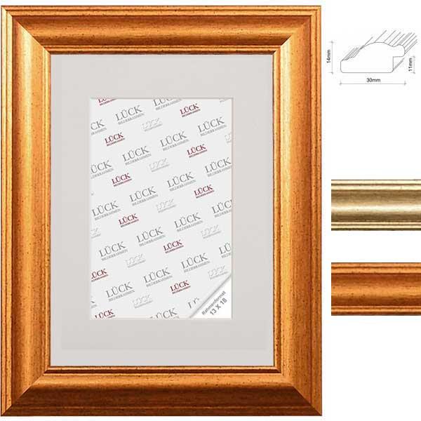 Lijst van plastiek Wallhausen 7x10 cm | goud | normaal glas