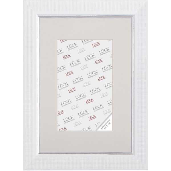 Lijst van plastiek Egesheim 7x10 cm | wit | anti-spigelingglas