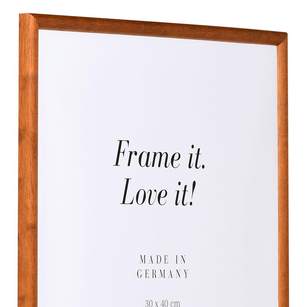 Lijst van hout Avignon 30x45 cm | nootbruin | normaal glas