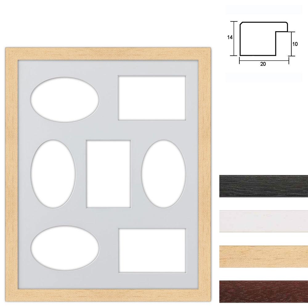 Set van 7 Galerij lijst van hout 40x50 cm