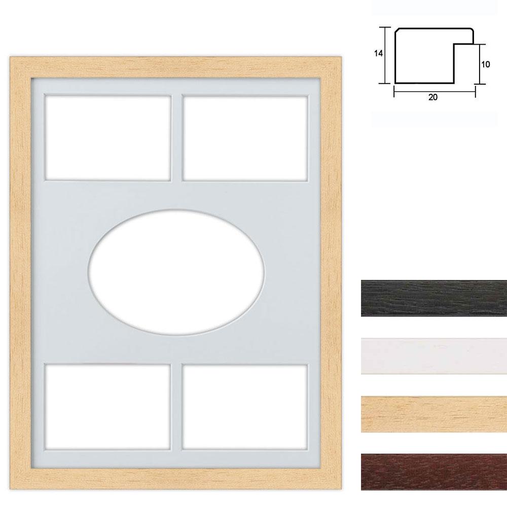 5 Foto's Galerij lijst van hout 30x40 cm