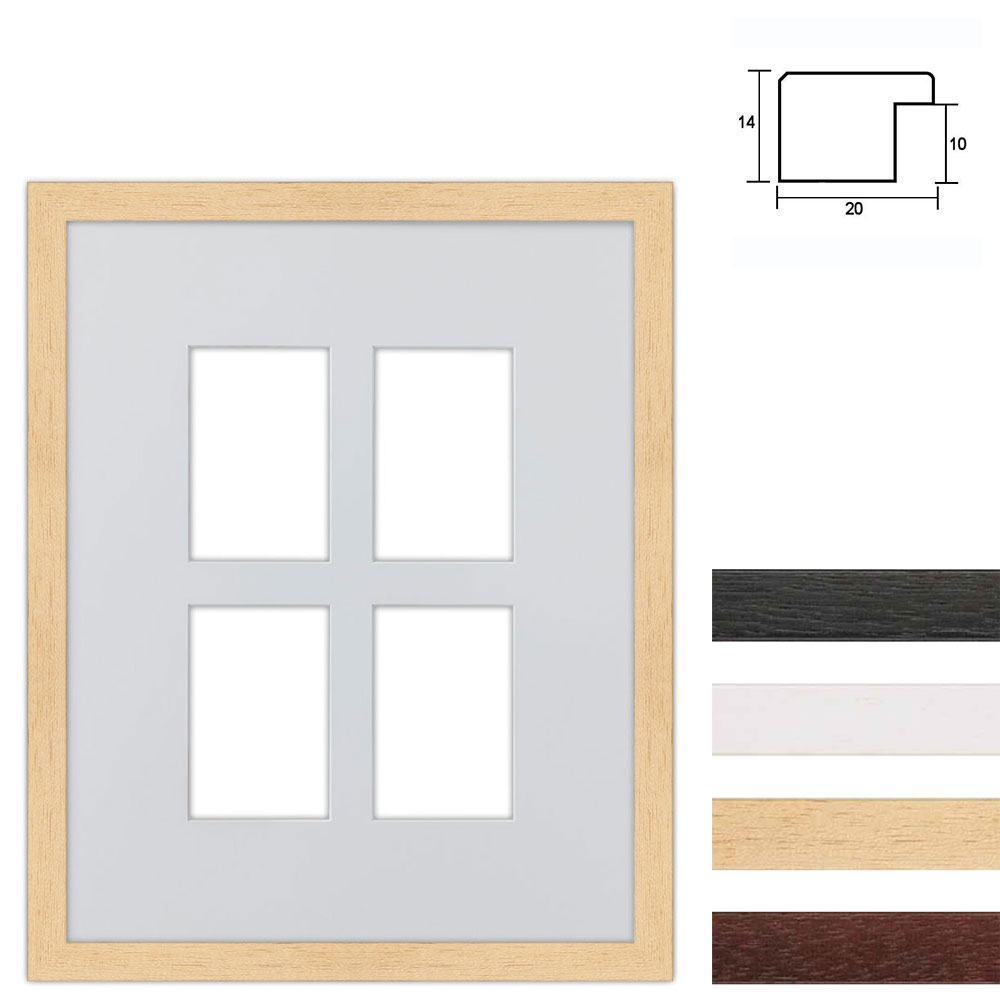Set van 4 Galerij lijst van hout 40x50 cm