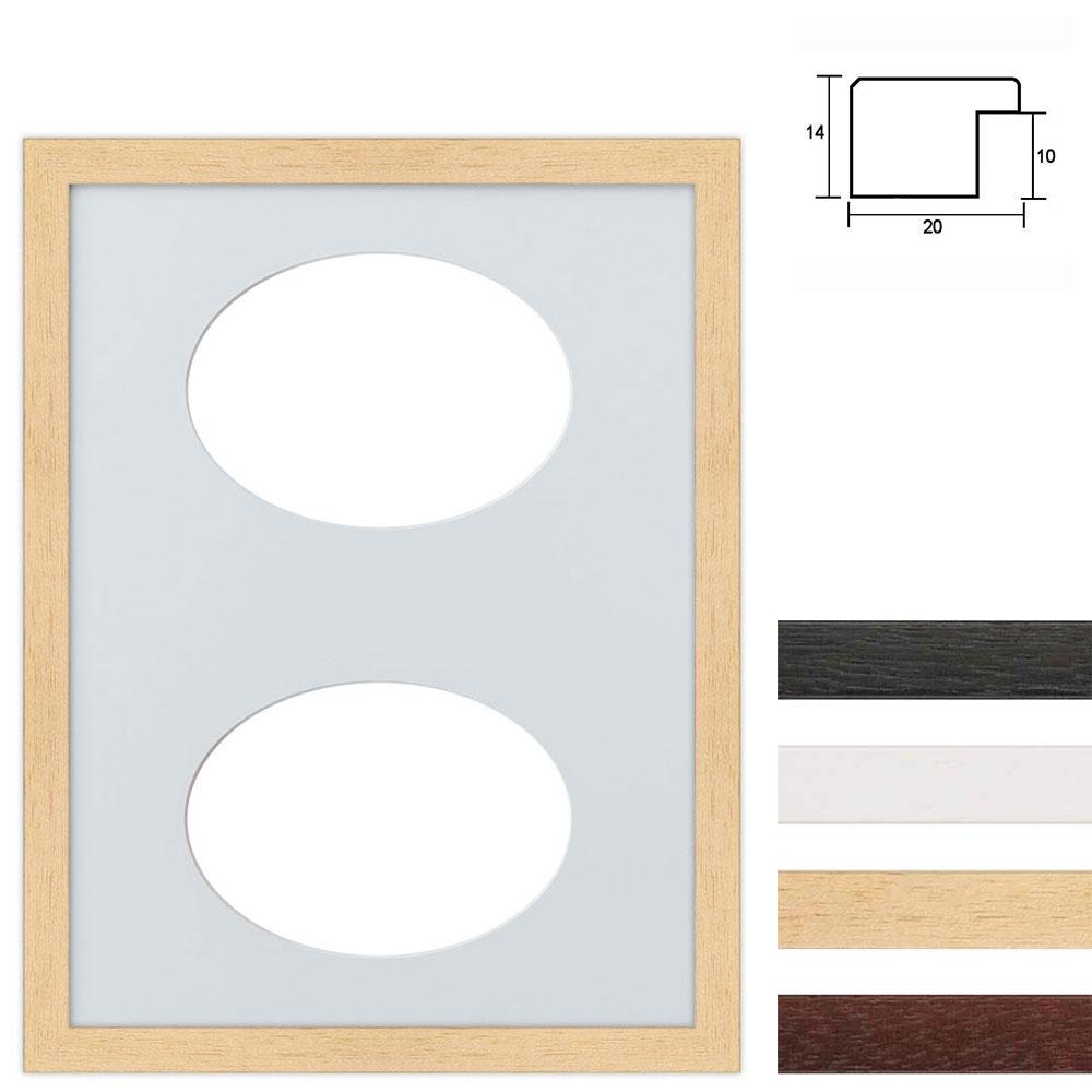 Set van 2 Galerij lijst van hout 30x40 cm ovale knipsel