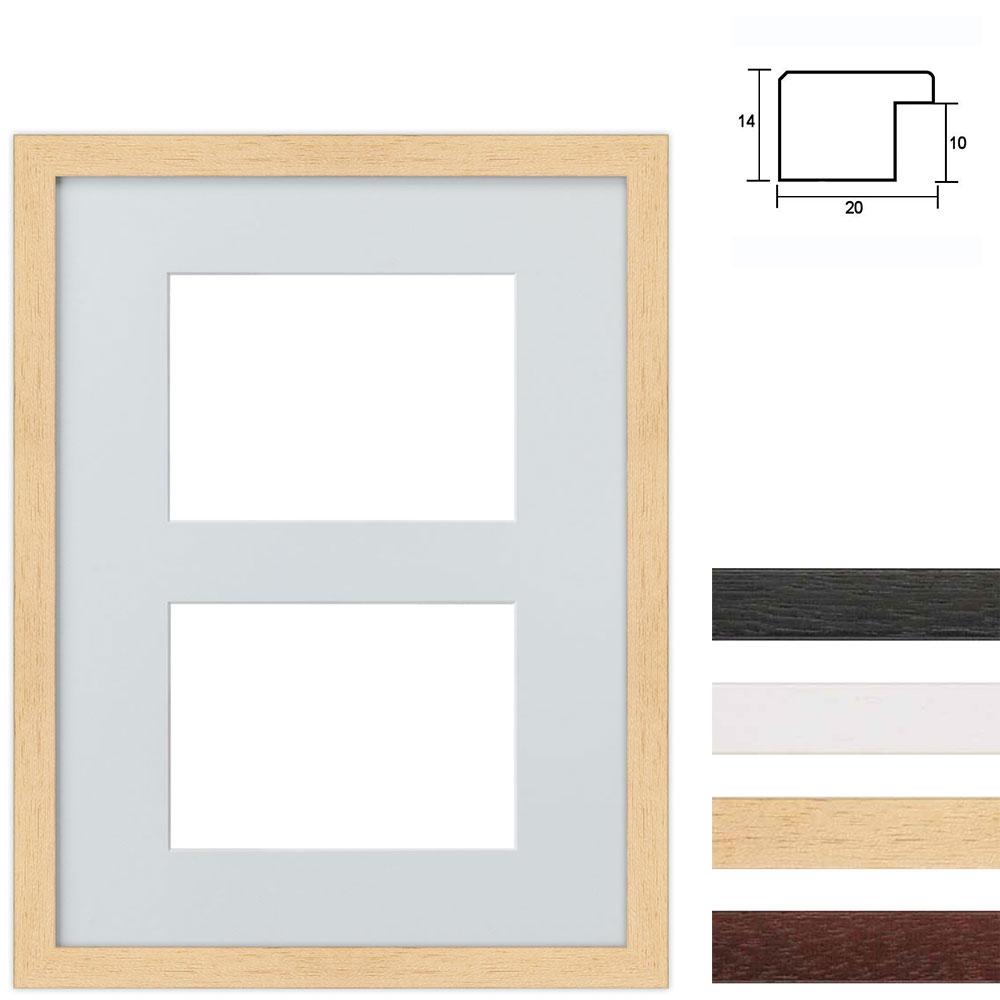 6 Foto's Galerij lijst van hout 30x40 cm
