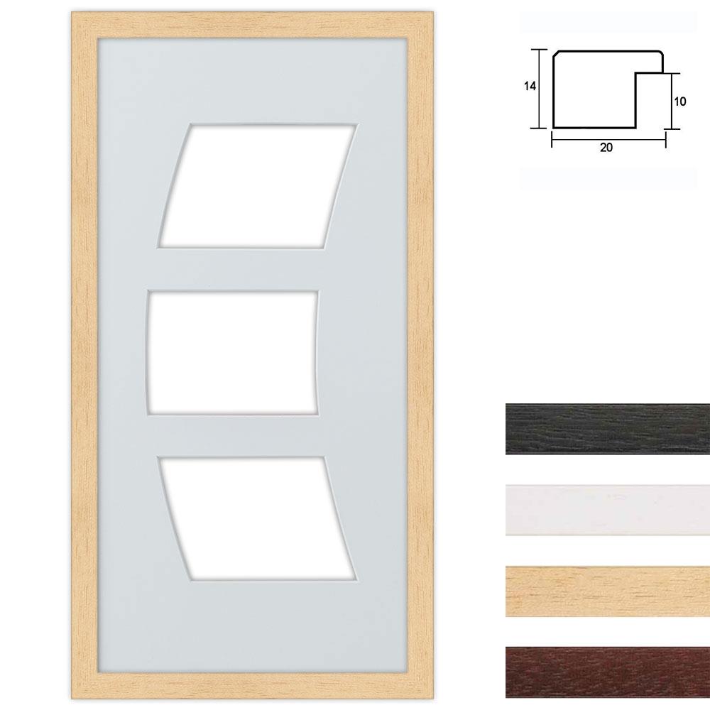 3 Foto's Galerij lijst van hout 25x50 cm boegknipsel