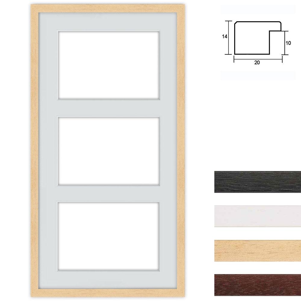 3 Foto's Galerij lijst van hout 40x80 cm voor DIN A4