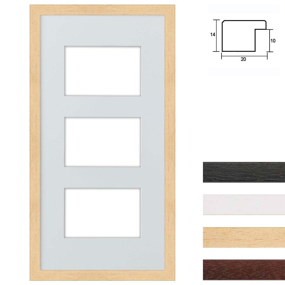 Set van 3 Galerij lijst van hout 25x50 cm