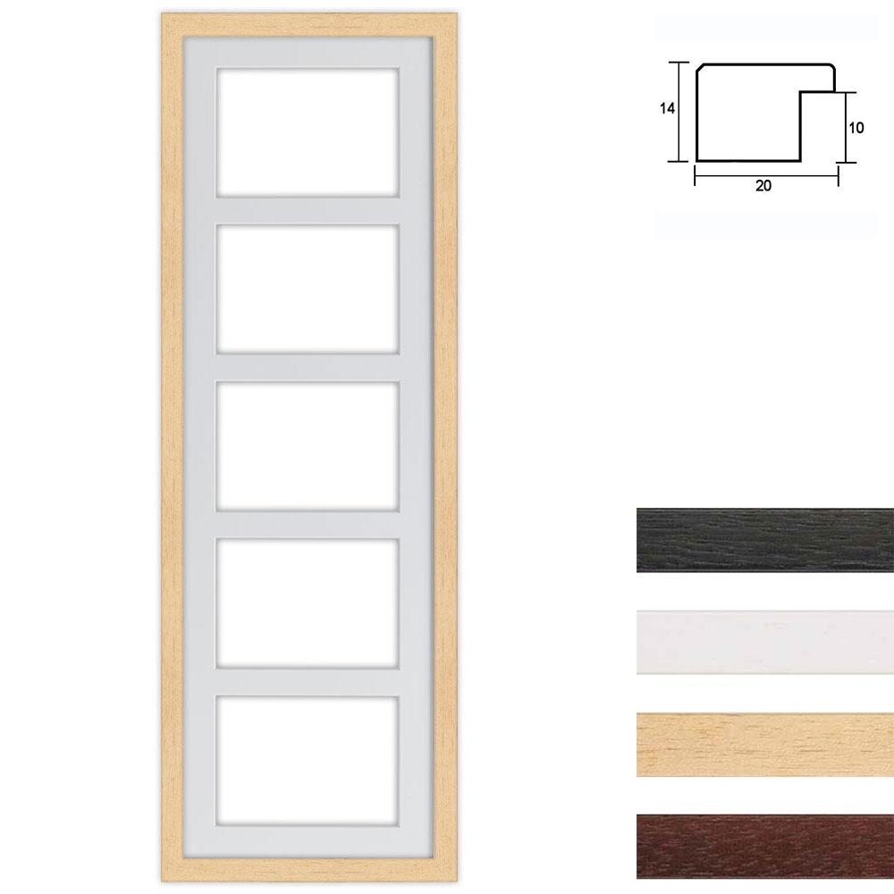 5 Foto's Galerij lijst van hout 25x80 cm
