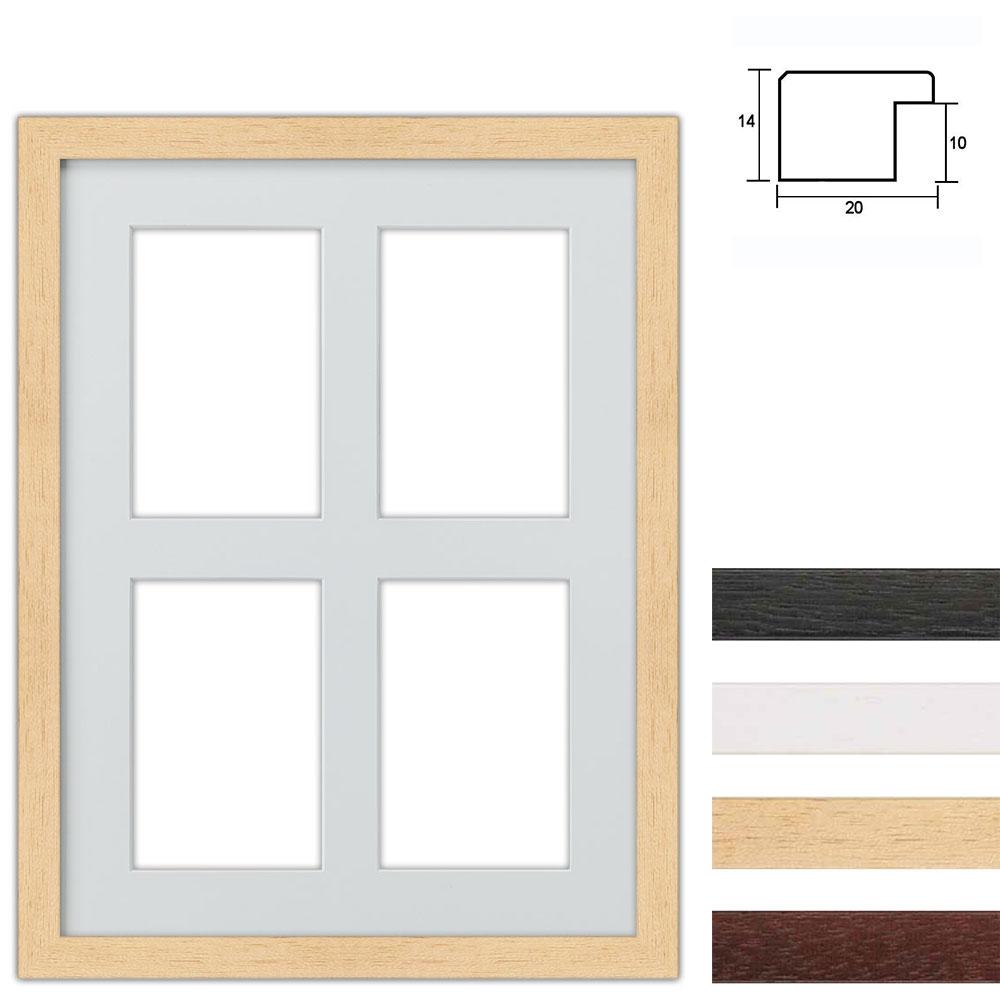Set van 4 Galerij lijst van hout 30x40 cm