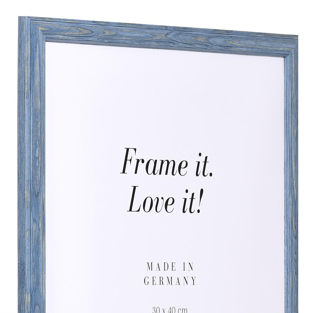 Lijst van hout Saint-Michel 9x13 cm | grau-blau | Zondeer glas en achterwand