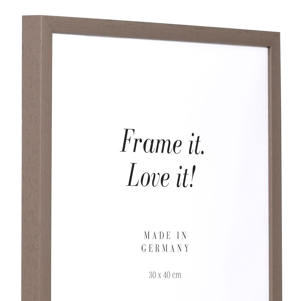 Lijst van hout Burgund 9x13 cm   bruin   lege lijst (zonder glas en achterwand)