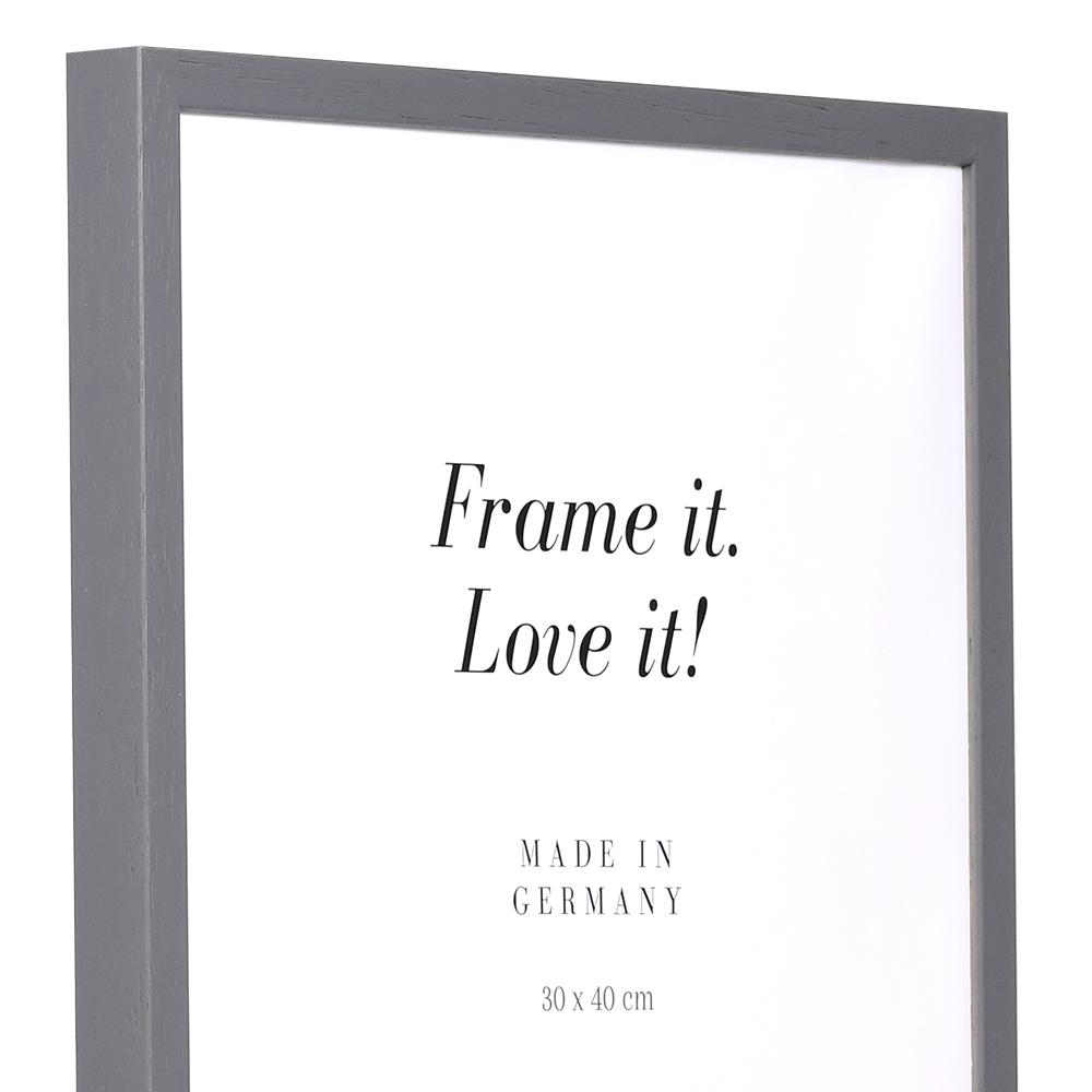 Lijst van hout Burgund 9x13 cm   grijs   lege lijst (zonder glas en achterwand)
