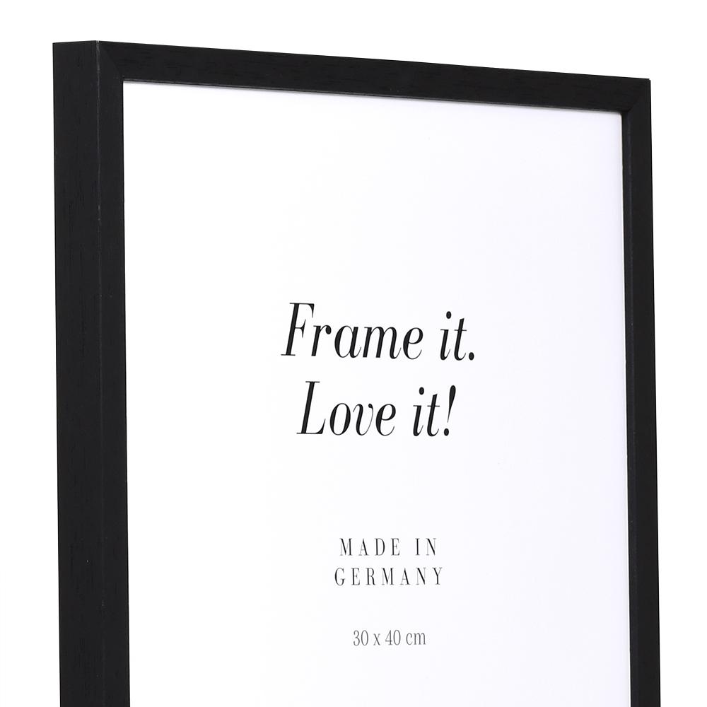 Lijst van hout Burgund 9x13 cm | zwart | lege lijst (zonder glas en achterwand)
