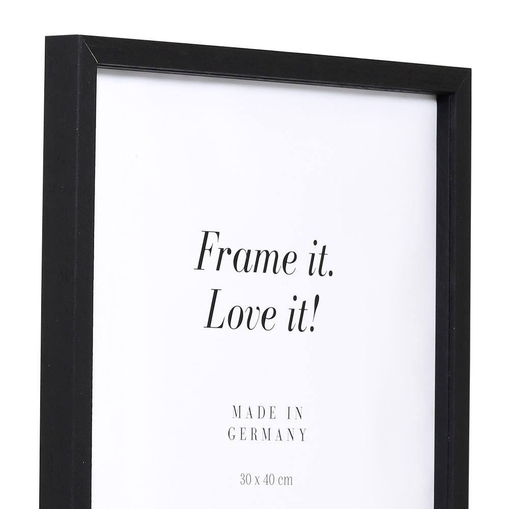 Lijst van hout Burgund met afstandlijst 10x15 cm | zwart | normaalglas