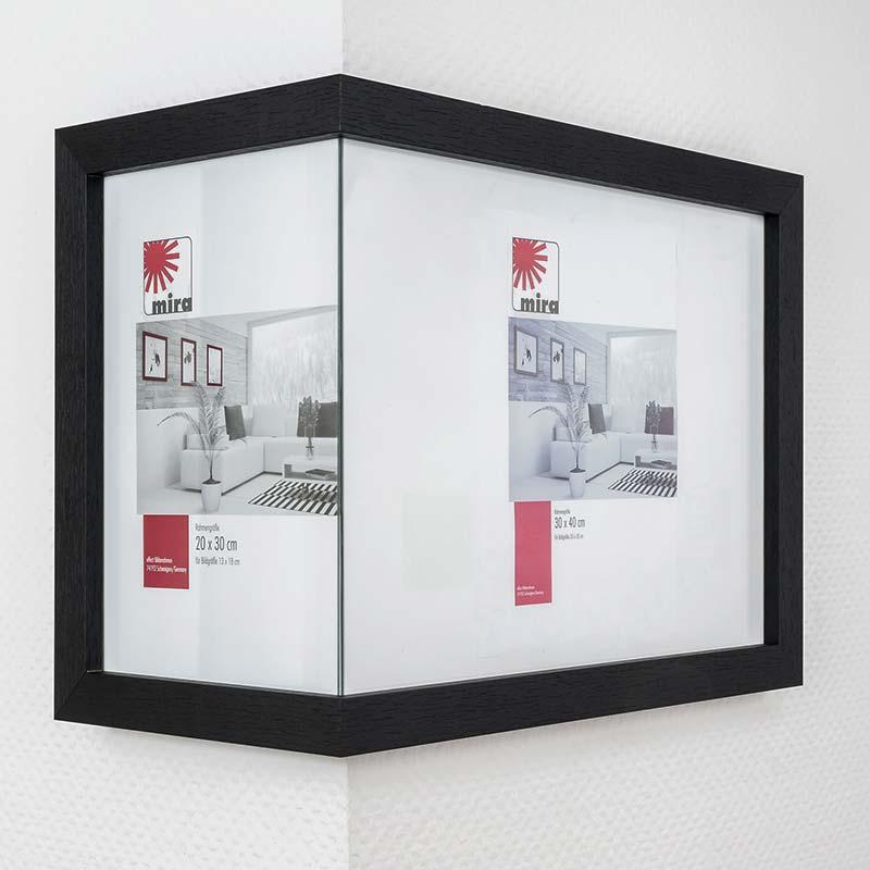 Om-de-hoek-lijst 2:1, breed 20x30 cm / 30x40 cm | natuur | normaal glas
