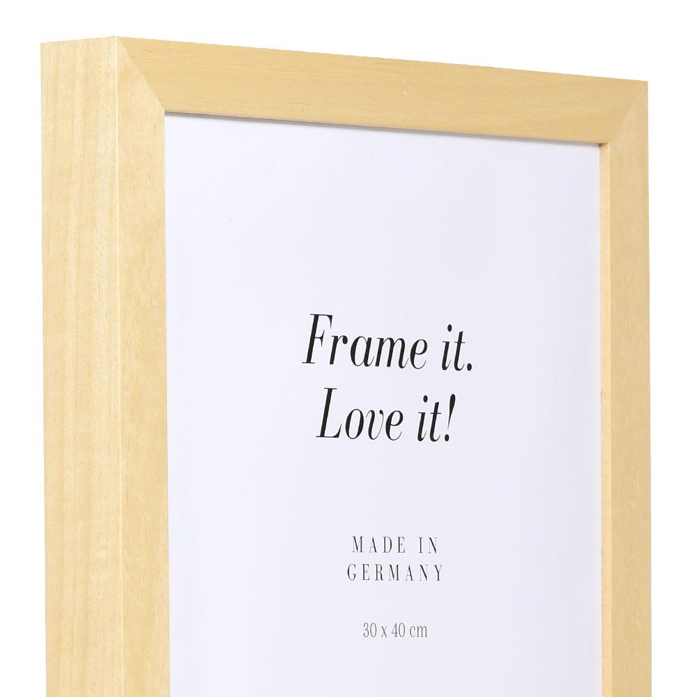 Lijst van hout Nouvelle 25x35 cm   natuur   lege lijst (zonder glas en achterwand)