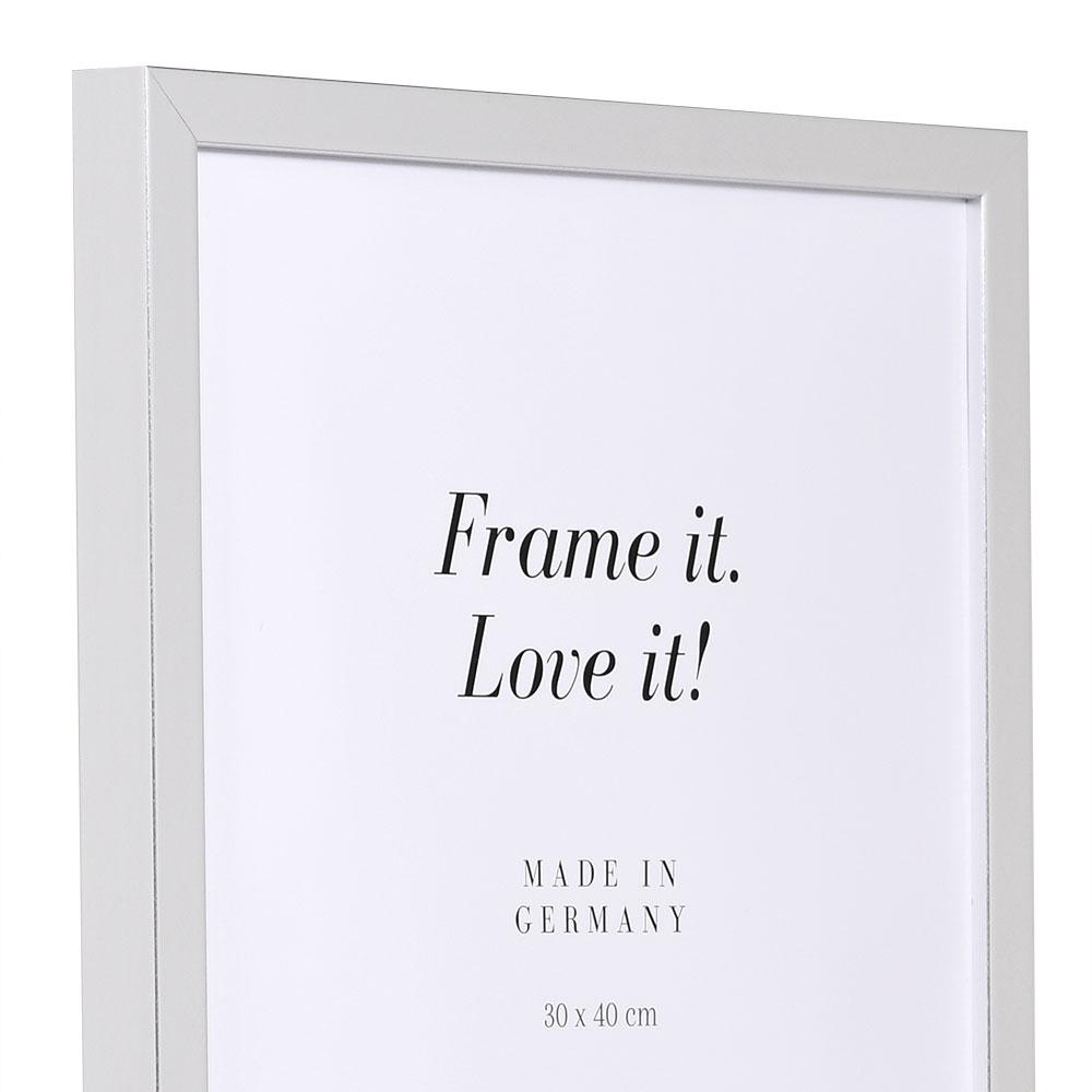 Lijst van hout Figari 50x70 cm | zilver | lege lijst (zonder glas en achterwand)