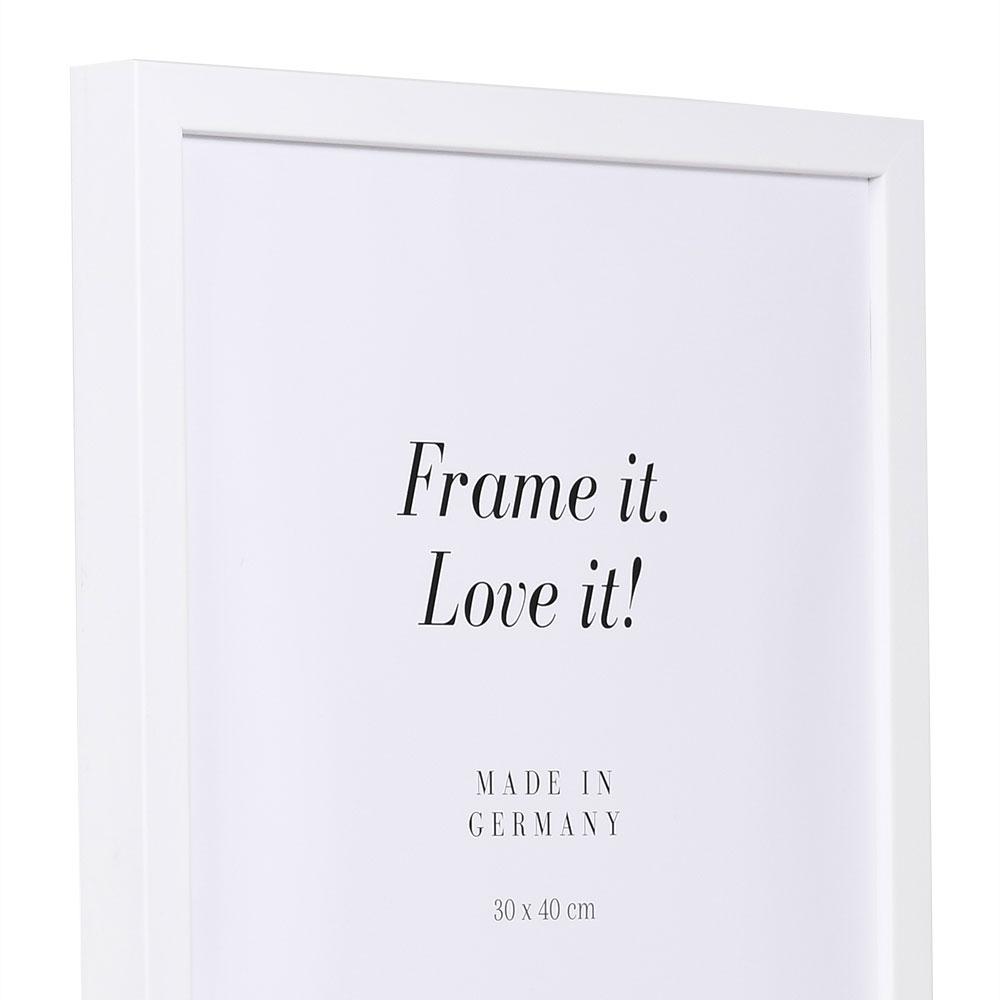 Lijst van hout Figari 10x15 cm   wit   lege lijst (zonder glas en achterwand)