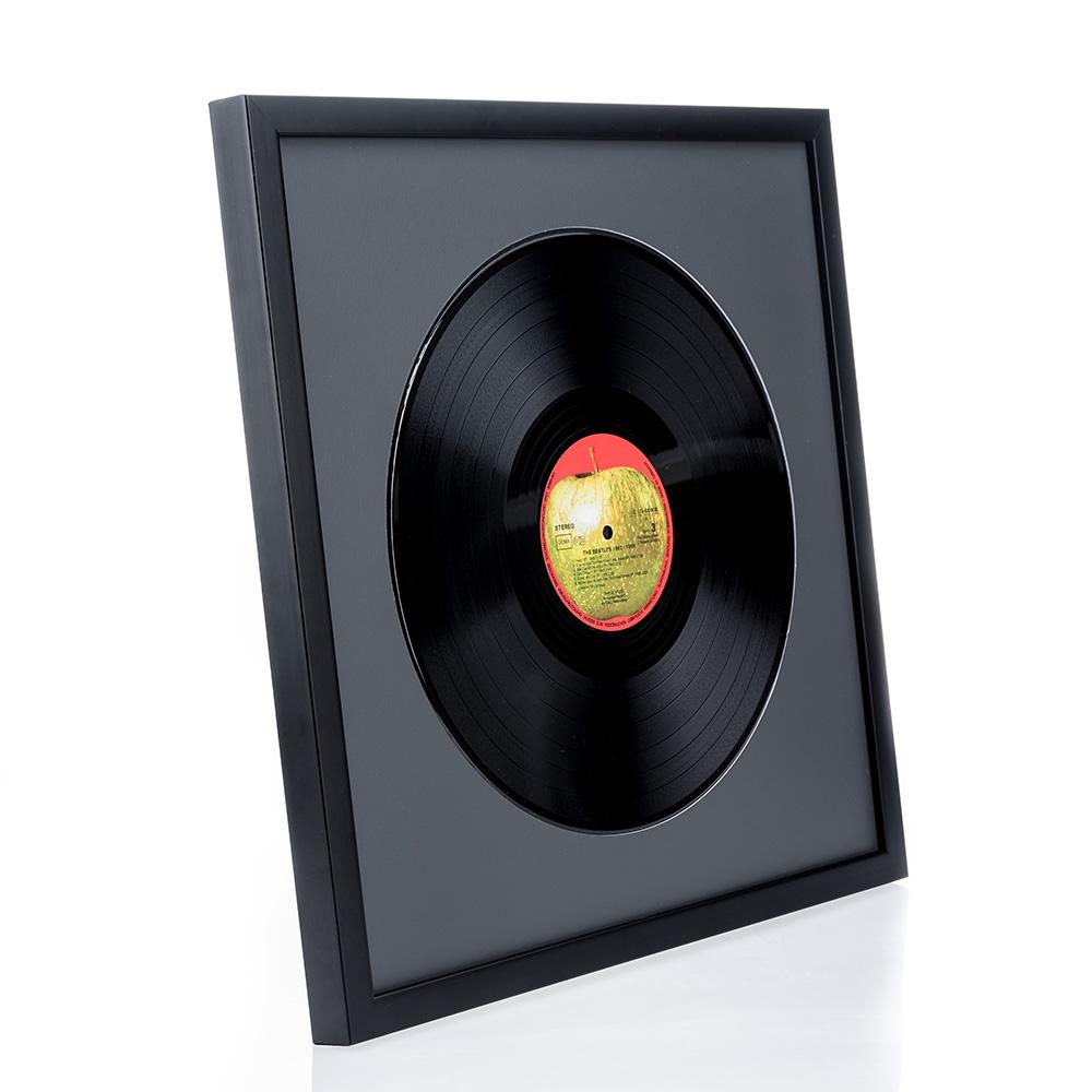 """Lijst van hout """"Top Cube"""" voor vinyl-platen"""